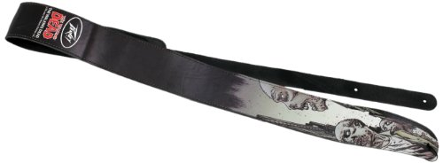 Peavey The Walking Dead Looking Zombie Leather Guitar Strap