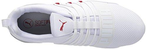 PUMA Mens Cell Regulate SL Sneaker Puma White-high Risk Red h0e7LPnDN