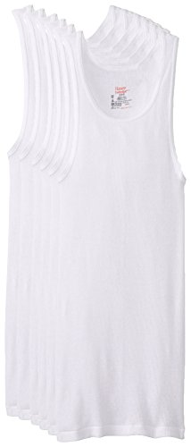 Hanes Men's 6-Pack FreshIQ ComfortSoft Tanks, White, Small from Hanes