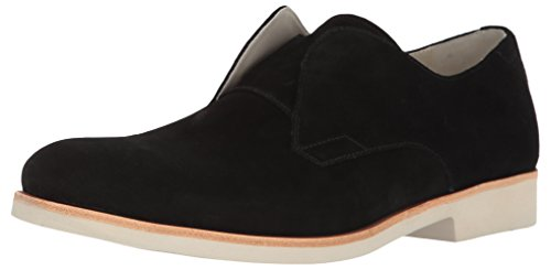 Calvin Klein Men's Fedrico Oily Suede Oxford, Black, 12 M US by Calvin Klein