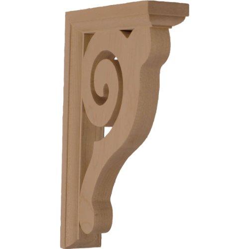 - Ekena Millwork BKT01X06X08BURW  1 1/2-Inch W by 6-Inch D by 8 1/2-Inch H Bulwark Bracket, Rubber Wood
