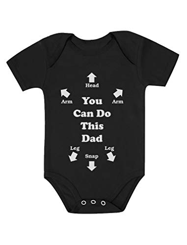 Tstars You Can Do This Dad Perfect for New Dads Cute Funny Baby Bodysuit NB (0-3M) Black