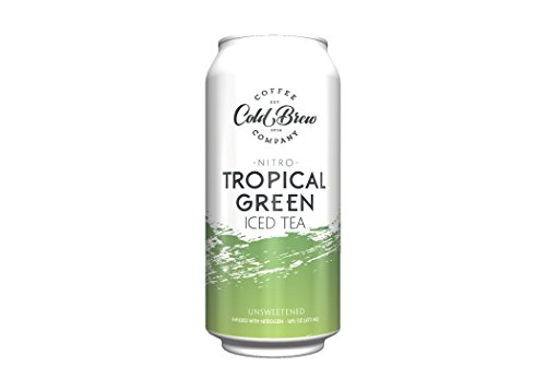 NEW - Cold Brew Coffee Co. - Tropical Green Iced Tea - Nitro Cold Brew - 16oz - 6 pack - Gluten Free - Organic - Unsweetened - All Natural - Non GMO