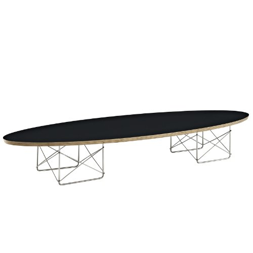 LexMod Surfboard Elongated Coffee Table, Black