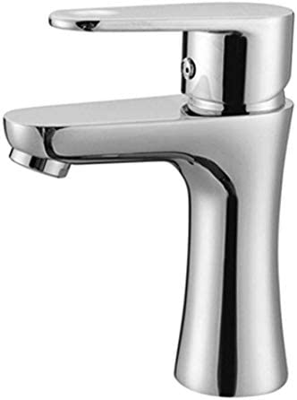 Zxyan 蛇口 立体水栓 バスルームのシンクは、ホットスロット付き浴室の洗面台のシンク盆地単穴温水と冷水ステンレス鋼のシングルハンドル洗面台浴室キャビネットシングルハンドルをタップし、冷水蛇口 トイレ/キッチン用