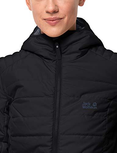 Jack Wolfskin Damen Maryland Coat Steppmantel Winddicht Wasserabweisend Atmungsaktiv Mantel, schwarz, XXL 4