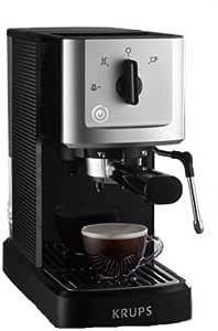 Krups compacto de espresso automática, con portafiltro y boquilla ...