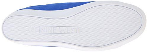 Nine West Kvinners Hearmeout Nubuck Mote Sneaker Blå / Multi
