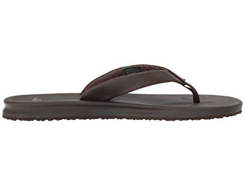 Sanuk Frauen Yogamatte Wander Flip-Flop Braun schwarz