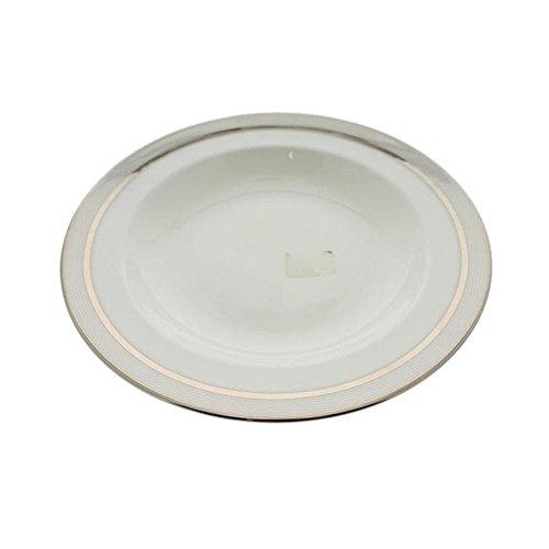- Martha Stewart Ribbon Stripe Silver Soup Bowl