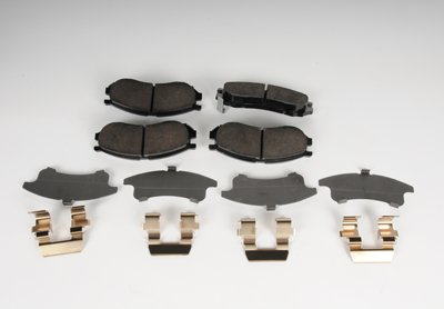 ACDelco 21012454 GM Original Equipment Front Disc Brake Pad Kit with Brake Pads, Clips, and Shims