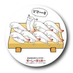 LCB,073 北斗市公式キャラクター ずーしーほっきー 缶バッジ(