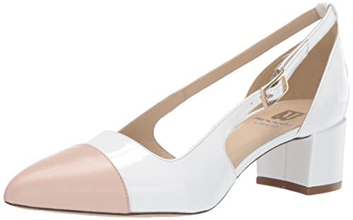 - Bruno Magli Women's Lisette Spectator Shoe Pump, White/Nude, 9 M M US