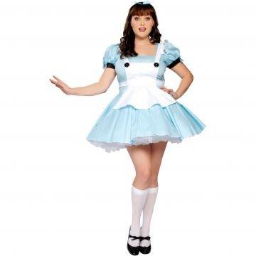 Alice in Wonderland Adult Costume - (Alice From Alice In Wonderland Costume)