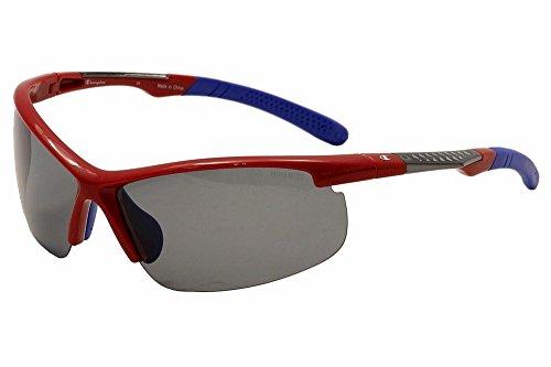 Champion Men's Team Red polycarbonate Rectangular Sunglasses - Champion Polarized Sunglasses