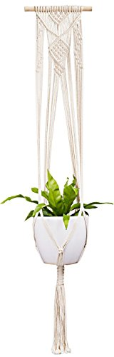 Mkono Macrame Plant Hanger Indoor Wall Hanging Planter Basket Flower Pot Holder Boho Home Decor