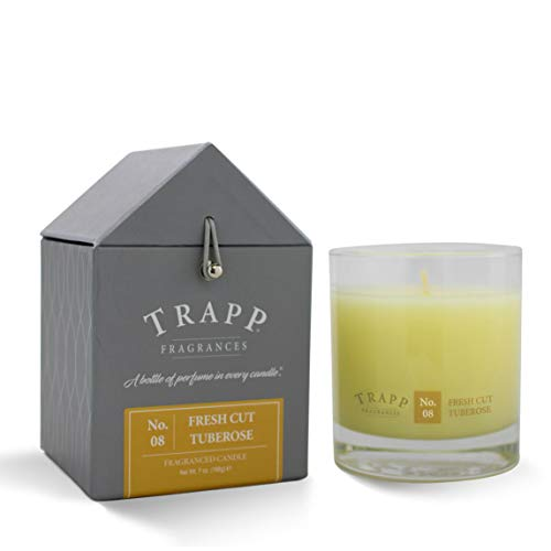 (Trapp Signature Home Collection No. 8 Fresh Cut Tuberose Poured Scented Candle, 7-Ounce)