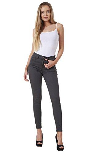 Gunmetal Slim Cotton Womens Quality Ladies Jeans Denim Skinny Fit Stretch xI1qwwzF