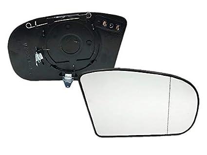 Spiegelglas Außenspiegel Rechts Heizbar Asphärisch MERCEDES W203 W211 Facelift