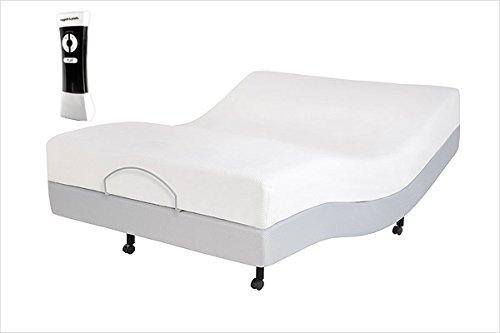 Leggett & Platt Signature Adjustable Bed Base with Ultra-Quiet Motor and Wireless Remote, Gray Finish, Twin XL