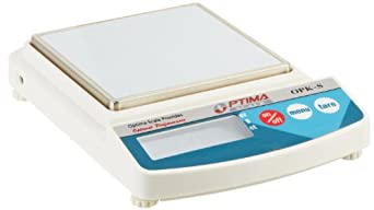 Optima Scales OPK-S5000 Compact Digital Precision Scale Balance, 5000g x 2g, Stainless Steel Pan