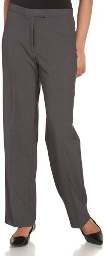 Sag Harbor Women's Plus-Size Slimming Panel Pant, Heather Grey, 20W - Harbor Sag Womens Dress