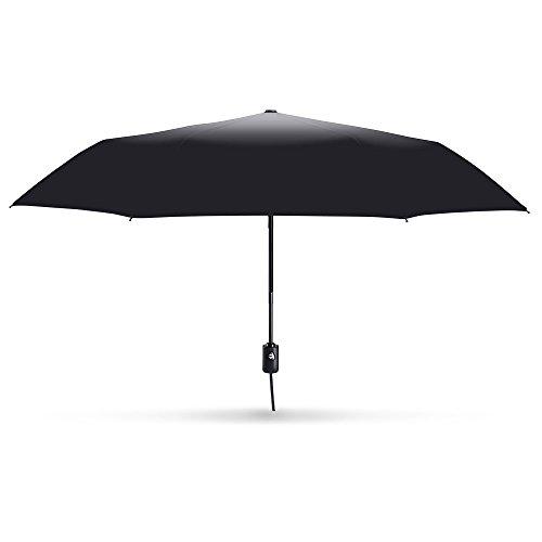 E-PRANCER自動開閉折り畳み傘ワンタッチ自動開閉撥水性シンプル8本骨ブラック