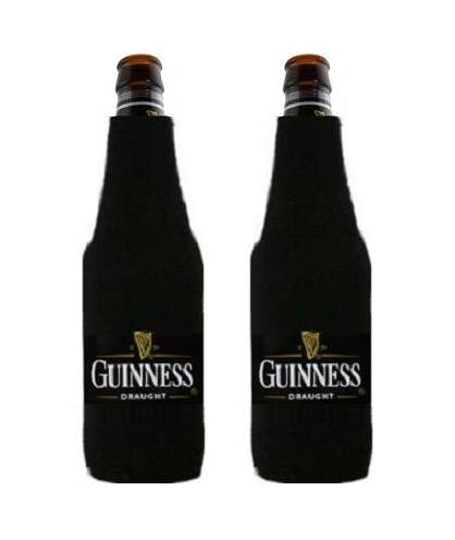 Guinness Draught Beer Bottle Suit Cooler Coozie Coolie Huggie Set of 2
