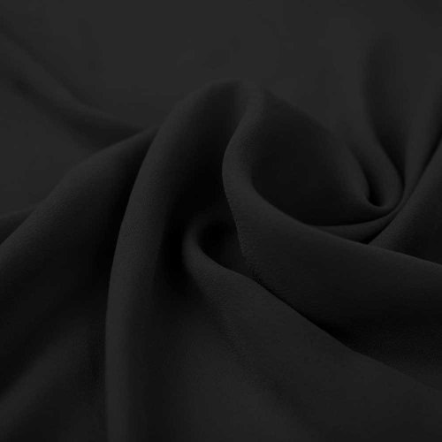 Black Wool Dobby Hi Multi Chiffon (Wholesale Wool Fabric)