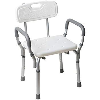 Amazon Com Vive Shower Chair With Back Handicap Bathtub