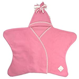 Tuppence and Crumble Star Baby Wrap Rose Pink Size Medium