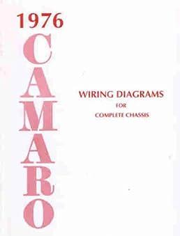 1976 camaro complete set of factory electrical wiring diagrams 2002 Camaro Wiring Diagram