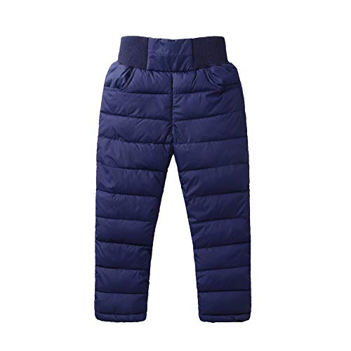 - LOSORN ZPY Baby Boy Girl Winter Snow Bibs Kids Warm Thicken Skiing Snowpants Navy 130