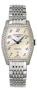 Longines-Evidenza-Stainless-steel-and-Diamond-Bezel-Womens-Watch
