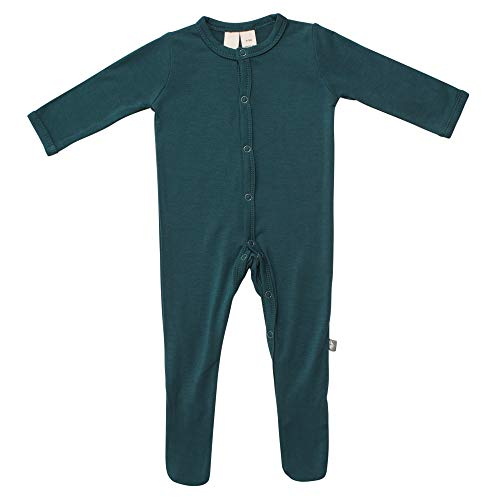 - KYTE BABY Footies - Baby Footed Pajamas Made of Soft Organic Bamboo Rayon Material - 0-24 Months - Solid Colors (18-24 Months, Emerald)