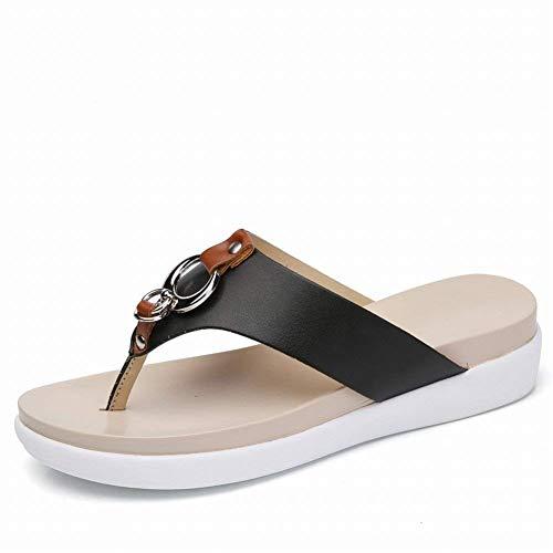 Pantofole comodi fiammifero di Taglia colore arancione Grips dei modo sandali pelle 36 Tutto Nero in morbida rr0Fgwqa