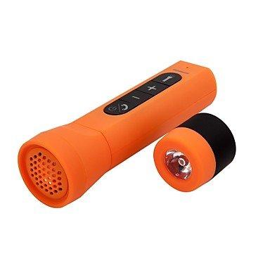 neutac AT201impermeabile & Bluetooth & Power altoparlante con microfono per iPhone 6/iPad mini 3/Samsung/HTC Cellulari & Tabs, arancione