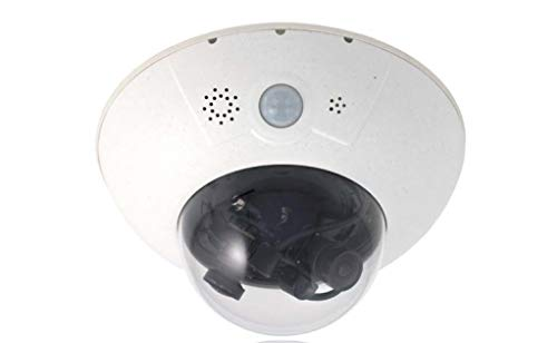 MOBOTIX MX-D16B DUAL-LENS IP Outdoor Camera, 6 MP Resolution Per Lens, 12 MP Total Resolution, Moon-Light Sensor, Professional Software, Video Analytics - Body Only - Lens Not Included