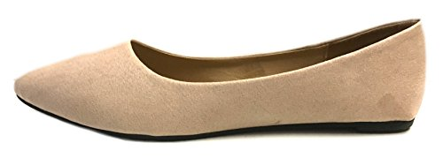 Shoes Faux Shoes8teen Micro Womens Loafer Suede 3 Flats Smoking Nude 8800 Colors wqwp7STnXx