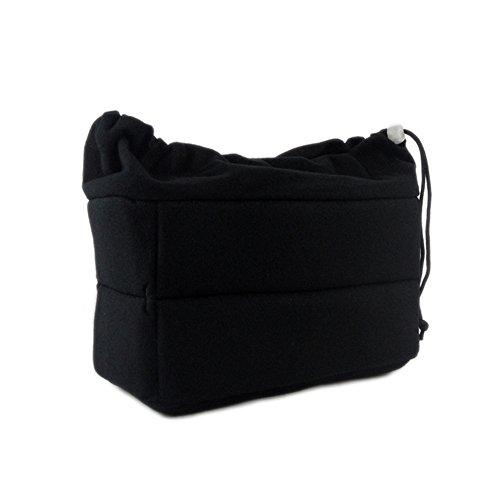 DRF DSLR Camera Insert Bag Shockproof Partition Padded Inner Case with Drawstring BG168 (Black)