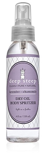 Deep Steep Dry Oil Body Spritzer, Lavender Chamomile, 4 Ounce ()