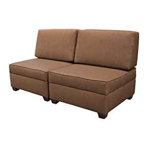 Multifunctional Sleeper Sofa Bed (Mocha)