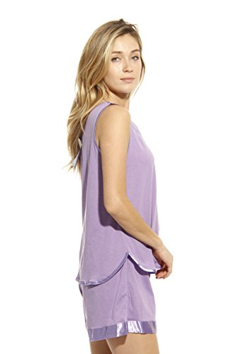1531-PUR-M Dreamcrest Short Sets / Women Sleepwear / Womans Pajamas,Purple,Medium by Dream Crest (Image #1)