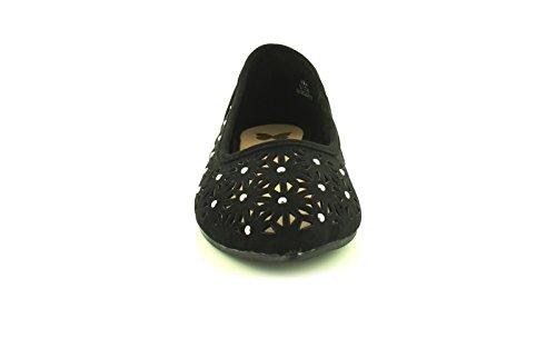 bout tailles Femmes pointu Noir Noir NEUF 9 UK FEMMES pour 3 avec chaussures ballerine tvTxR