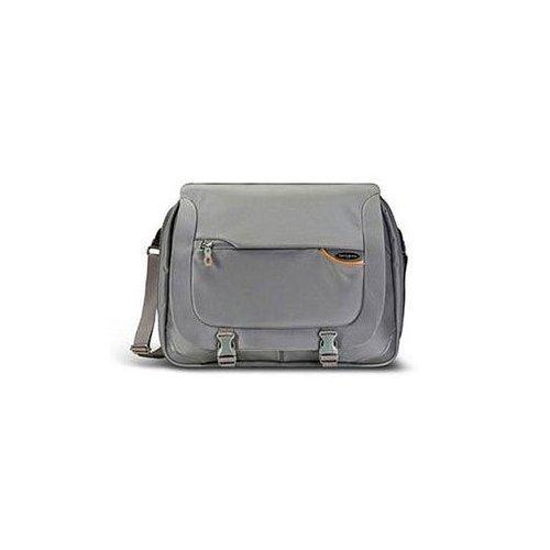 Samsonite Pro-DLX 2 Business Laptop Messenger Bag-Steel Grey