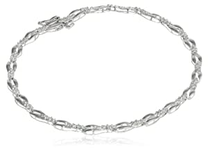 """Sterling Silver Diamond Accent Bracelet, 7.25"""" from Amazon Curated Collection"""
