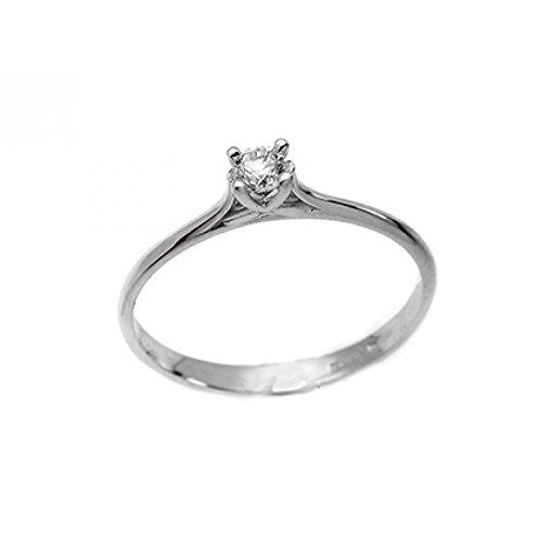 Solitaire Bague Diamant Femme asb202or blanc diamant