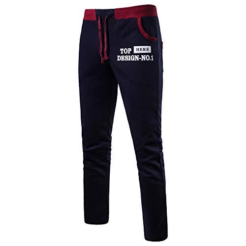Beautyfine Men's Sweatpants New Leisure Sports Pant Fashion Alphabet Printed Comfortable Trousers -