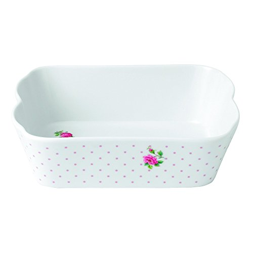 Royal Albert New Country Roses Baking Bliss Rectangular Baking Dish, 7.4-Inch, White (Royal Albert Dishes compare prices)