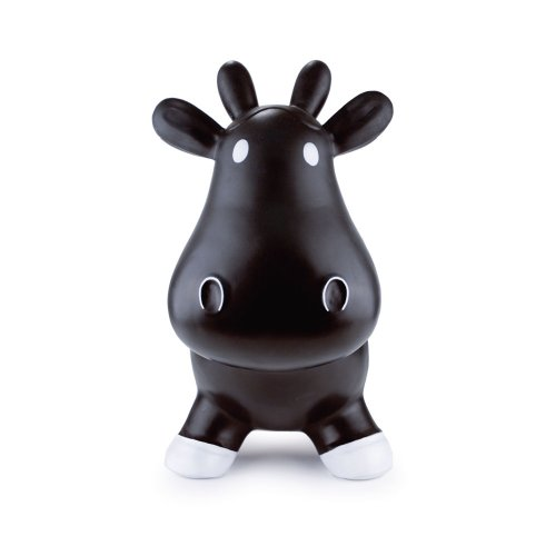 Trumpette Howdy Bouncy Rubber Cow, Black, Baby & Kids Zone